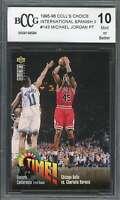 Michael Jordan 1995-96 Coll's Choice International Spanish Ii #143 BGS BCCG 10