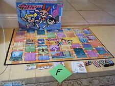 2000 MILTON BRADLEY THE POWERPUFF GIRLS BOARD GAME 2-4 PLAYERS AGE 8 & UP READ!