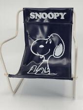 Vintage Rare Japan '58 Peanuts Snoopy Lawn Chair Metal Vinyl Doll Toy blue/white