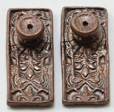 Dollhouse Miniatures 1:12 Scale Ornate Door Knob, 4/Pk, Oil Rubbed #Cla05613