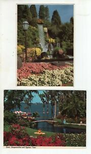 2 Vintage Post Cards -  Florida's Cypress Gardens