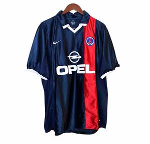 Nike Opel PSG Paris France Home Football Shirt Jersey Adult Size XL