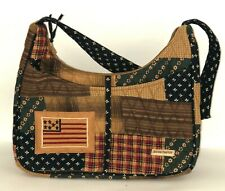 Bella Taylor Quilted Patchwork Blakely Purse Primitive Americana