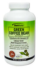 DietWorks Green Coffee Bean Extract Weight Loss Metabolism Svetol 180 Caplets