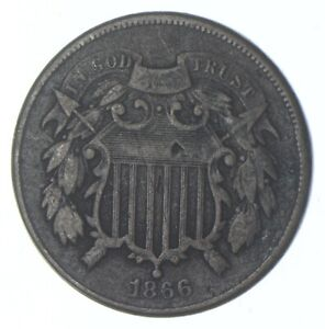 1866 Two-Cent Piece - Walker Coin Collection *840
