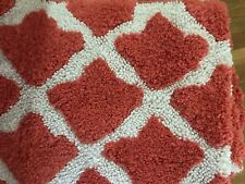$49.50 Pottery Barn Marlo Bath Mat rug 27x45 Orange Coral