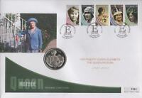 QUEEN MOTHER MEMORIAL COIN COVER - WITH SIERRA LEONE 2002 COIN