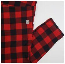 Terra & Sky Plus Size Christmas Leggings 2X 20/22 Womens Red Plaid Softbrush NWT