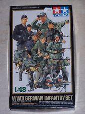 Figurines TAMIYA 1/48ème WWII GERMAN INFANTRY SET