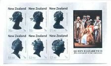 NEW ZEALAND 2013 QEII CORONATION SET OF 6 SHEETS + S/SHEET MNH