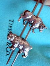 Tiffany & Co Sterling Silver Bull and Bear Cufflinks