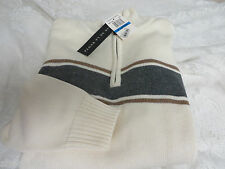 OSCAR DE LA RENTA Mens NWT Xl  ME4170RC Rice Stripe Golf Career Sweater