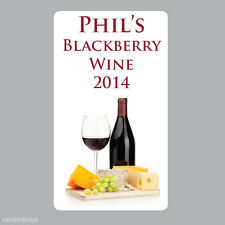 20 x LARGE Personalised Homemade Wine Making Bottle Labels Stickers 086