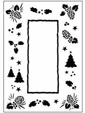 """Crafts Too Embossing Folder """" Christmas Trees Frame"""" Ctfd3035 For Cards"""