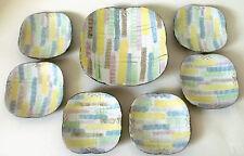 "50s Carstens Tönnieshof 7x Schale Keramik ""Rimini"" set of ceramic bowl annees 50"