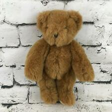 Vermont Teddy Bear Co Plush Bear Brown Classic Jointed Stuffed Animal Soft Toy