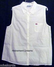 MATERNITY L Womans Top Shirt NEW NURSING White US Flag Pocket Large Patriotic