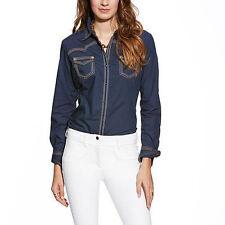 10014951 Ariat Ladies Locus Long Sleeve Shirt - Dress Blue NEW