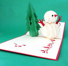 VARIETY HAND MADE, 3D POP UP, CHRISTMAS,SEASON'S GREETINGS CARD, PACK OF TEN-10*