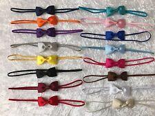 Baby Girls Headband Small Bow Skinny Elastic Hair Accessories Christening  +Lot