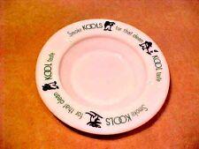"KOOL VINTAGE Collectible KOOLS ASHTRAY PENGUIN WHITE MILK GLASS 5 1/4"" R ASHTRAY"