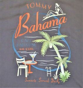 Tommy Bahama Silk Embroidered Sunsets Served Daily Hawaiian Camp Shirt Golf XL