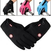 UK~Women Men Winter Touch Screen Gloves Warm Thermal Waterproof Anti-slip Zipper