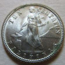1944 US Philippine SILVER TEN CENTAVOS Coin. (U204)