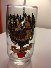 Final Sale Vintage Retro Twelve Days of Christmas Drinking Glass - 12 oz. Day 1