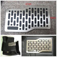 Universal Car Floor Leather Mat Carpet Auto Aluminum Pad Plate Pedal Foot Rest