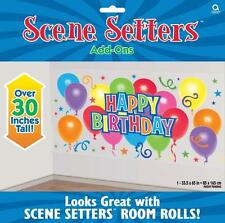 5ft Happy Birthday Balloons Scene Setter Party Wall Banner Decoration Photo Prop