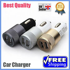 2IN1 UNIVERSAL LED USB 12V DUAL CAR CHARGER CIGARETTE SOCKET Samsung iPhone iPad