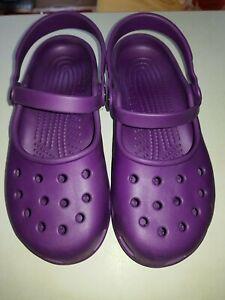 Women's Comfortable CROCS Shoes Clogs in Purple size 2 uk 35 euro