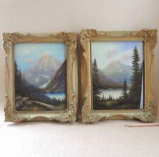 Pair Maise Wride Rockies Canada Landscape Pastel Painting Lake Mountain Maisie