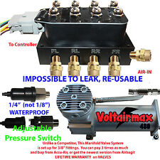 "Accu-rate-Air 3/8"" Valve Manifold DC480 Compressor Adjustable Pressure Switch"