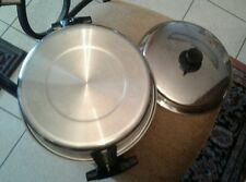 West Bend Ashcraft T-304 stainless 5 quart double boiler with lid