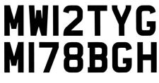 Number Plate Show Decal Sticker Car Vehicle Truck Van Modified