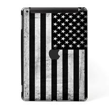 Skins Decal Wrap for Apple iPad 9.7 2017 Black White Grunge Flag USA America