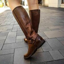 Frye Women's Phillip Harness Tall Boot Knee High Leather Brown  $380 Size10