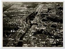 Abbeville, vue aérienne c. 1935 - Vraie Photo Vintage Picardie