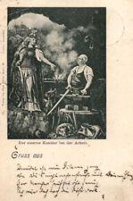 21938/ Künstler Ak, Litho,  Bismarck, der Eiserne Kanzler bei der Arbeit, 1898