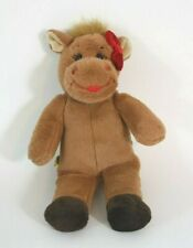 """Build a Bear Small Fry Plush Reindeer Girl Red Bow Stuffed Animal Toy 10"""""""