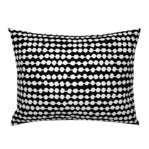 Dots Spots Black And White Circles Rows Coordinate Pillow Sham by Roostery
