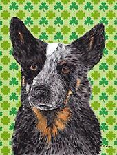 Caroline's Treasures Australian Cattle Dog St. Patrick's Day Shamrock Flag