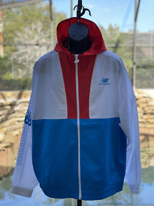 NEW BALANCE BOSTON WINDBREAKER XL RED/WHITE/BLUE