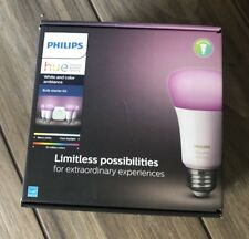 Philips Hue White and Color Ambiance 4 Bulb Starter Kit (3rd Gen) NEW SEALED