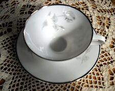 Vintage Winterling Bavaria Germany Roses w/ Silver Trim  Tea Cup + Saucer Set ~