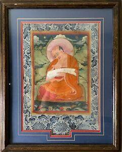RARE Antique 18th/19th Century Tibetan Thangka Lama Painting Thanka