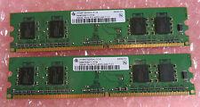2 x Infineon HYS64T3200HU-3.7-A 256MB PC2-4200U 1Rx4 DDR2-533MHz CL4 240-Pin RAM