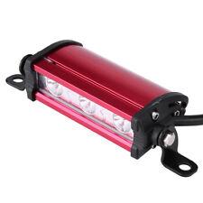 Universal Car Motorcycle 3 LED Fog Spot Beam Work DRL Light Bar Lamp 6000K Red